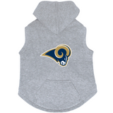 Los Angeles Rams Dog Pet Premium Button Up Embroidered Hoodie Sweatshirt