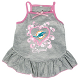 Miami Dolphins Dog Pet Pink Too Cute Squad Jersey Tee Dress
