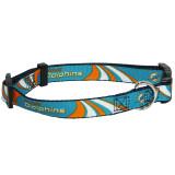 Miami Dolphins Dog Pet Premium Adjustable Nylon Collar