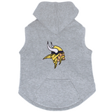 Minnesota Vikings Dog Pet Premium Button Up Embroidered Hoodie Sweatshirt
