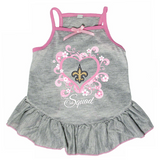 New Orleans Saints Dog Pet Pink Too Cute Squad Jersey Tee Dress