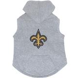 New Orleans Saints Dog Pet Premium Button Up Embroidered Hoodie Sweatshirt