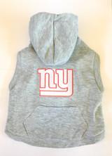 New York Giants Dog Pet Premium Button Up Embroidered Hoodie Sweatshirt