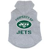 New York Jets Dog Pet Premium Button Up Property Of Hoodie Sweatshirt