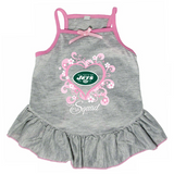 New York Jets Dog Pet Pink Too Cute Squad Jersey Tee Dress