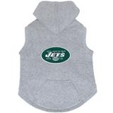 New York Jets Dog Pet Premium Button Up Embroidered Hoodie Sweatshirt