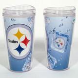 Pittsburgh Steelers Ice Cube Design 16oz Travel Tumbler