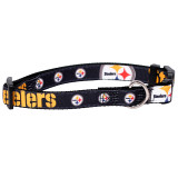 Pittsburgh Steelers Dog Pet Premium Adjustable Nylon Collar