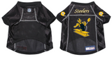 Pittsburgh Steelers Dog Pet Premium Mesh Football Jersey Throwback