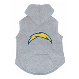 San Diego Chargers Dog Pet Premium Button Up Embroidered Hoodie Sweatshirt