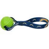 San Diego Chargers Dog Rubber Ball Tug Toss Toy