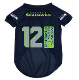 Seattle Seahawks Dog Pet Mesh 12th Man's Best Friend Football Jersey