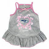 Seattle Seahawks Dog Pet Pink Too Cute Squad Jersey Tee Dress