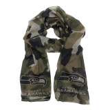 Seattle Seahawks Sheer Camo Fashion Scarf