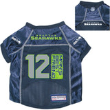 Seattle Seahawks Dog Pet Premium 12th Man's Best Friend Mesh Football Jersey