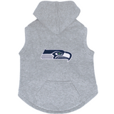Seattle Seahawks Dog Pet Premium Button Up Embroidered Hoodie Sweatshirt