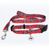 Tampa Bay Buccaneers Dog 3pc Pet Set Leash Collar ID Tag