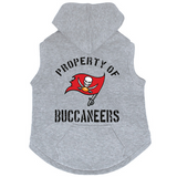 Tampa Bay Buccaneers Dog Pet Premium Button Up Property Of Hoodie Sweatshirt