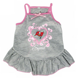 Tampa Bay Buccaneers Dog Pet Pink Too Cute Squad Jersey Tee Dress