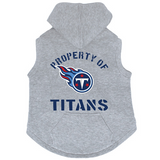Tennessee Titans Dog Pet Premium Button Up Property Of Hoodie Sweatshirt