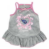 Tennessee Titans Dog Pet Pink Too Cute Squad Jersey Tee Dress