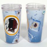Washington Redskins Ice Cube Design 16oz Travel Tumbler