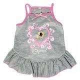 Washington Redskins Dog Pet Pink Too Cute Squad Jersey Tee Dress