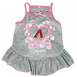 Arizona Diamondbacks Dog Pet Pink Too Cute Squad Jersey Tee Dress