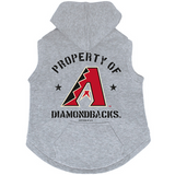 Arizona Diamondbacks Dog Pet Premium Button Up Property Of Hoodie Sweatshirt