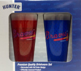 Atlanta Braves Jersey Mesh Drinking Glass Boxed Set