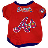Atlanta Braves Dog Pet Baseball Jersey Alternate