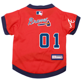 Atlanta Braves Dog Pet Premium Baseball Jersey