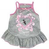Chicago White Sox Dog Pet Pink Too Cute Squad Jersey Tee Dress