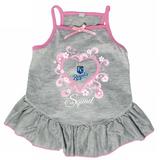 Kansas City Royals Dog Pet Pink Too Cute Squad Jersey Tee Dress