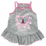 Los Angeles Angels Dog Pet Pink Too Cute Squad Jersey Tee Dress