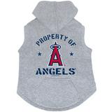 Los Angeles Angels Dog Pet Premium Button Up Property Of Hoodie Sweatshirt