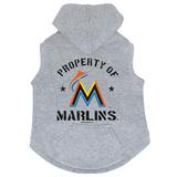 Miami Marlins Dog Pet Premium Button Up Property Of Hoodie Sweatshirt