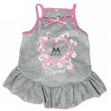 Miami Marlins Dog Pet Pink Too Cute Squad Jersey Tee Dress