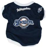 Milwaukee Brewers Dog Pet Baseball Jersey Alternate