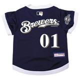 Milwaukee Brewers Dog Pet Premium Baseball Jersey