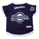 Milwaukee Brewers Dog Pet Premium Baseball Jersey Alternate