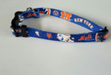 New York Mets Dog Pet Adjustable Nylon Collar