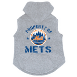 New York Mets Dog Pet Premium Button Up Property Of Hoodie Sweatshirt