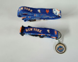 New York Mets Dog 3pc Pet Set Leash Collar ID Tag