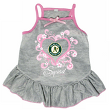 Oakland A's Athletics Dog Pet Pink Too Cute Squad Jersey Tee Dress