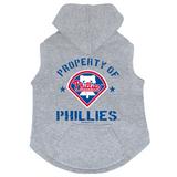 Philadelphia Phillies Dog Pet Premium Button Up Property Of Hoodie Sweatshirt