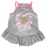 Pittsburgh Pirates Dog Pet Pink Too Cute Squad Jersey Tee Dress