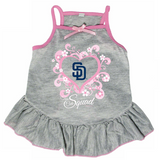 San Diego Padres Dog Pet Pink Too Cute Squad Jersey Tee Dress