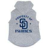 San Diego Padres Dog Pet Premium Button Up Property Of Hoodie Sweatshirt
