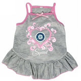 Seattle Mariners Dog Pet Pink Too Cute Squad Jersey Tee Dress